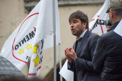 Parlamentary Alessandro di Battista from Movimento 5 Stelle (italian political party ) Stock Images
