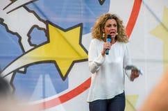 Parlamentary Barbara Lezzi från Movimento 5 Stelle (det italienska politiska partiet) Royaltyfri Foto