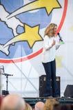 Parlamentary Barbara Lezzi von Partei Italiener Movimento 5 Stelle Lizenzfreies Stockbild
