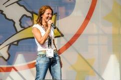 Parlamentary Carla Ruocco från Movimento 5 Stelle (det italienska politiska partiet) Fotografering för Bildbyråer