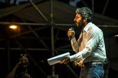 Parlamentary Roberto Fico dal partito di Movimento 5 Stelle dell'italiano Fotografia Stock Libera da Diritti