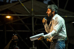 Parlamentary Roberto Fico von Partei Italiener Movimento 5 Stelle Lizenzfreies Stockfoto
