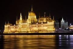 Parlamentbyggnad, Budapest, Ungern Arkivfoto