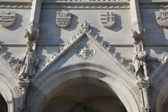 Parlamentbyggnad i Budapest, detalj Arkivfoto