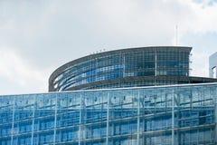 Parlamentbyggnad i Strasbourg Arkivbild