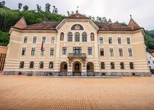 Parlamentbyggnad i Vaduz, Liechtenstein, Europa arkivbild
