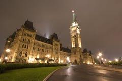 Parlamentbyggnad, Ottawa, Kanada Arkivfoto