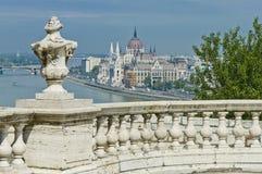 Parlamentbyggnad på Budapest, Ungern Royaltyfri Foto
