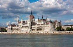 Parlamentet i Budapest Arkivbild