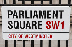 Parlamentfyrkant i London Royaltyfria Bilder