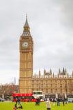 Parlamentfyrkant i stad av Westminster Arkivbilder