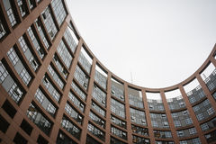 Parlamentgebäude in Straßburg Lizenzfreie Stockfotos