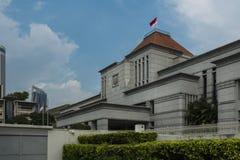 Parlamenthus av Singapore i centrala Singapore Arkivbild