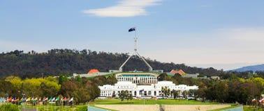 Parlamenthus, Canberra, Australien Arkivbilder