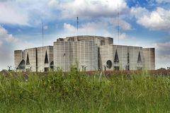 Parlamenthus i Dhaka; Bangladesh Arkivbild