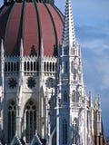 Parlamento dell'ungherese del particolare della cupola Fotografie Stock Libere da Diritti