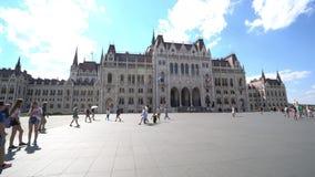 Parlamento della Camera a Budapest stock footage