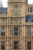 Parlamento di Westminster, dettaglio Fotografie Stock Libere da Diritti