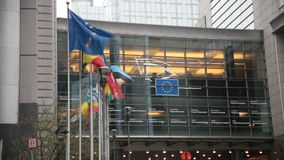 Parlamento Europeo stock footage