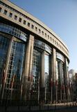 Parlamento Europeo a Bruxelles immagine stock libera da diritti