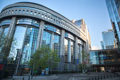 Parlamento Europeo - Bruxelles, Belgio Fotografie Stock Libere da Diritti