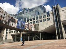 Parlamento Europeo a Bruxelles, Belgio Immagine Stock Libera da Diritti