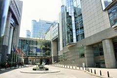 Parlamento Europeo en Bruselas Foto de archivo libre de regalías