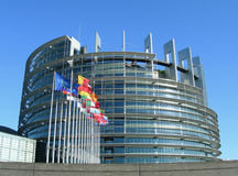 Parlamento Europeo en Estrasburgo Imagen de archivo libre de regalías