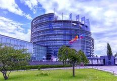 Parlamento Europeo in Strabourg, Francia Fotografia Stock