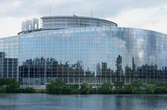 Parlamento Europeo a Strasburgo Fotografia Stock Libera da Diritti
