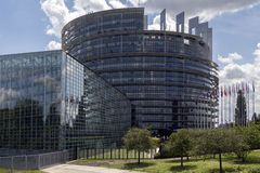 Parlamento Europeo - Strasburgo - Francia Fotografia Stock Libera da Diritti