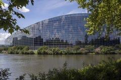 Parlamento Europeo - Strasburgo - Francia Immagine Stock Libera da Diritti
