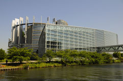 Parlamento Europeu em Strasbourg Imagem de Stock