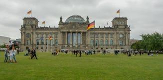 Parlamento tedesco alla notte Immagini Stock