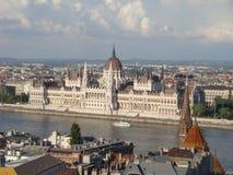 Parlaments-Gebäude Budapest Stockbild