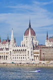 Parlaments-Gebäude in Budapest, Ungarn Stockbild