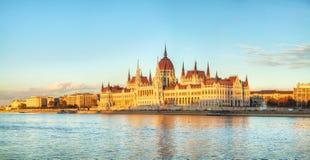 Parlaments-Gebäude in Budapest, Ungarn Stockfotografie