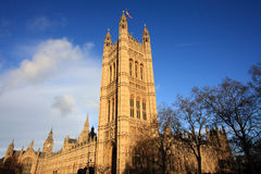 Parlaments-Gebäude des Vereinigten Königreichs Stockbild