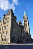 Parlaments-Gebäude am Sonnenuntergang, Ottawa Stockfoto