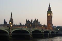 Parlaments-Gebäude und Big Ben London England Stockfoto