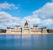 Parlaments-Gebäude in Budapest, Ungarn Stockfotos
