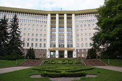 Parlaments-Gebäude in Chisinau, Moldau Stockbild