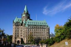 Parlaments-Hügel-Komplex in Ottawa, Kanada Stockfotografie