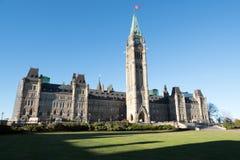 Parlaments-Hügel in Ottawa Stockfotos