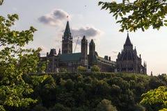 Parlaments-Hügel in Ottawa Kanada Stockbild