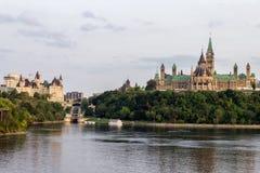 Parlaments-Hügel in Ottawa Kanada Lizenzfreies Stockbild