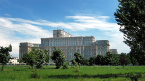 Parlaments-Palast in Bucharest Stockfoto