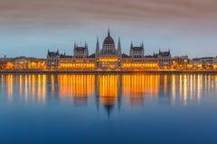 Parlamentsgebäude, Budapest stockfotografie