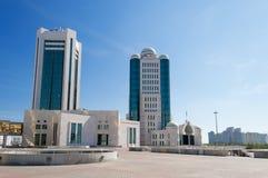 Parlamentsgebäude des Republik Kasachstan in Astana stockfotografie