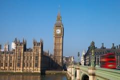 Parlamentsgebäude in London, vereinigter Stamm Stockfotografie